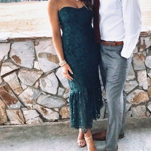 Lulus Lace Midi Dress